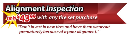 Special Offer: Alignment Inspection $43.99